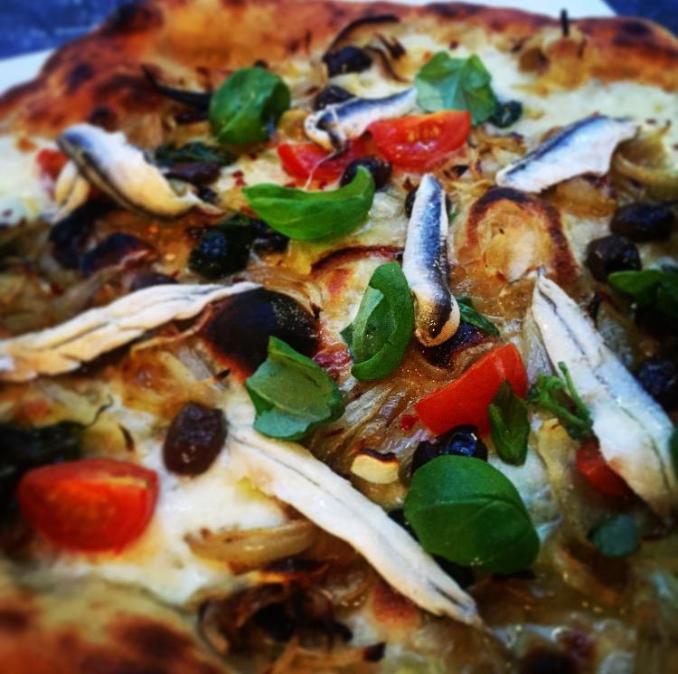 Boquerones från pizzerian 800 grader